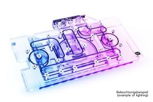 Alphacool Eisblock Aurora Acryl GPX-N RTX 3070 TUF/DUAL + Backplate /11958/