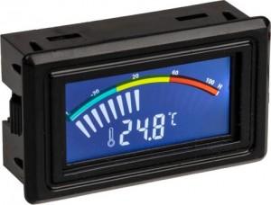 Lamptron digitális hőmérő, LCD, hőmérséklet érzékelő (LAMP-TS709)