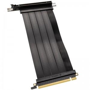 Lian Li PCIe x16 riser szalagkábel - PCIe 4.0, 200mm, fekete(PW-PCI-420)