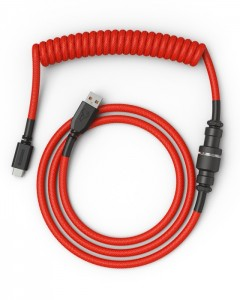 Glorious PC Gaming Race Coiled Cable Crimson Red USB-C Spirálkábel Piros /GLO-CBL-COIL-RED/