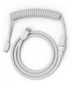 Glorious PC Gaming Race Coiled Cable Ghost White USB-C Spirálkábel Fehér /GLO-CBL-COIL-WHITE/