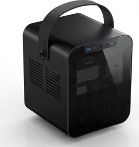 Jonsplus BO 100 Mini-ITX ház, edzett üveg - fekete (BO100-G Black)