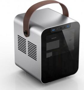 Jonsplus BO 100 Mini-ITX ház, edzett üveg - ezüst (BO100-G Silver)