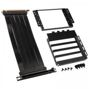 Lian Li O11D-1X-4 riser kábel + PCI slot konzol - PCIe 4.0, fekete (O11D-1X-4)