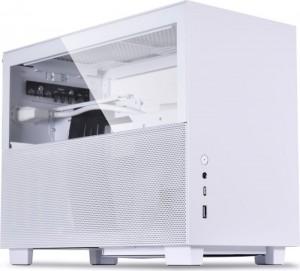 Lian Li Q58 fehér, PCIe 3.0 Edition, üvegablak, Mini-ITX (Q58W3)