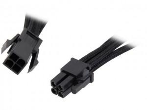 BitFenix Alchemy 4-pin ATX12V hosszabbító kábel, 45 cm, sleeved - fekete (BFA-MAC-4ATX45KK-RP)