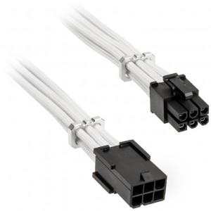 BitFenix Alchemy 6-pin PCIe hosszabbító kábel, 45 cm, sleeved - fehér (BFA-MAC-6PEG45WK-RP)