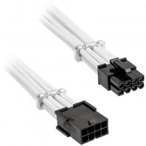 BitFenix Alchemy 8-pin PCIe hosszabbító kábel, 45 cm, sleeved - fehér (BFA-MAC-8PEG45WK-RP)