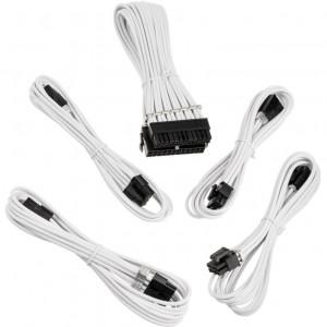 BitFenix Alchemy 3 x 8-pin PCIe hosszabító készlet - sleeved, fehér (BFA-MAK-EXTWK-RP)