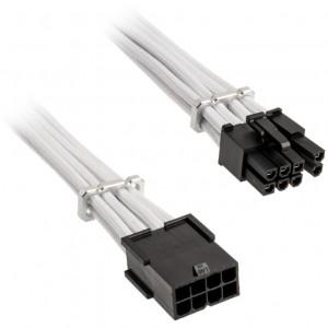 BitFenix Alchemy 6+2 tűs PCIe hosszabbító kábel, 45 cm, sleeved - fehér (BFA-MAC-62EPS45WK-RP)