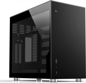 Jonsbo V10 Mini-ITX ház, edzett üveg - fekete (V10-G Black)