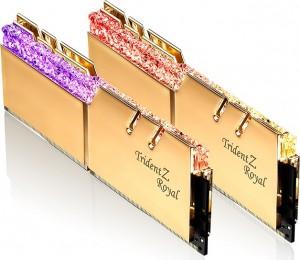 G.Skill Trident Z Royal gold DIMM Kit 64GB, DDR4-4400, CL19-26-26-46 (F4-4400C19D-64GTRG)
