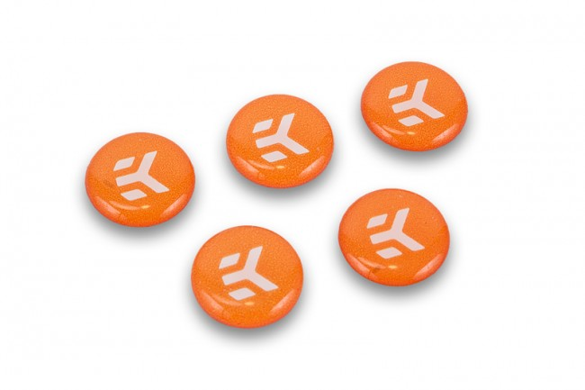 EK Water Blocks EK-Badge Orange (5pcs)