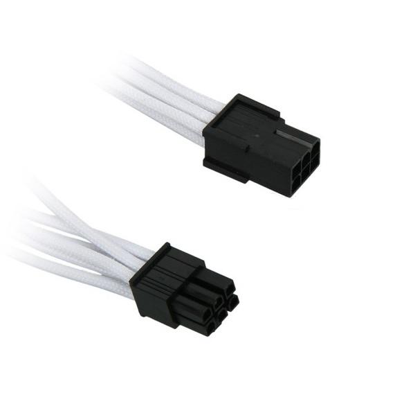 BitFenix 6-Pin PCIe hosszabbító 45cm - fehér / fekete
