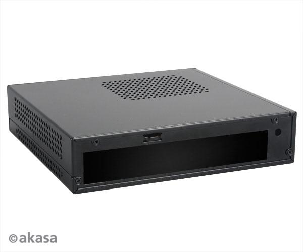 Akasa Cypher Thin Mini-ITX ház beleértve 120W tápegység, OEM - fekete.