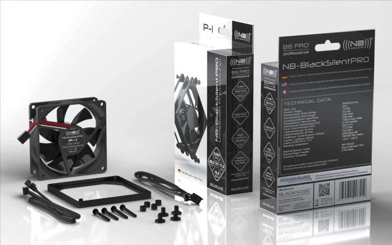 Noiseblocker BlackSilent Pro Fan P-1 - 80mm