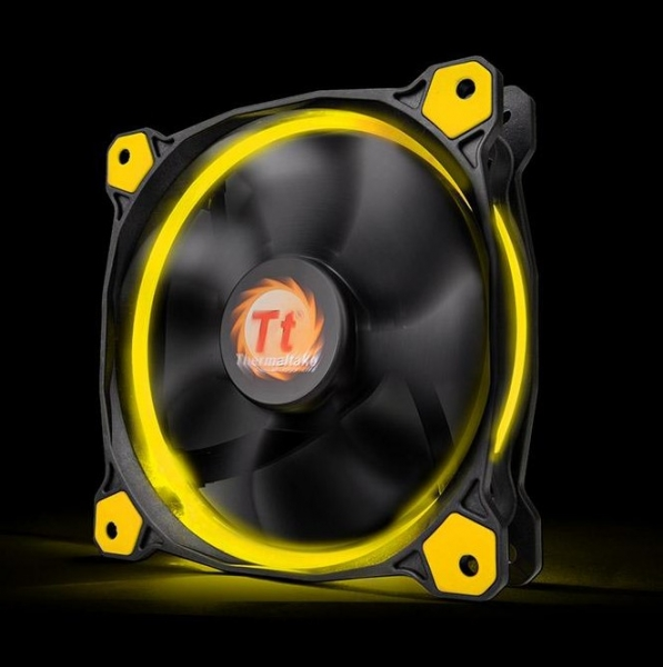 Thermaltake Riing 14, 140mm LED ventilátor - sárga
