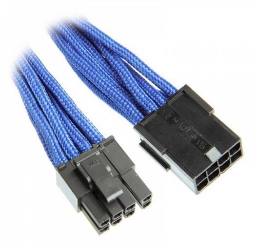Bitfenix 6+2-Pin PCIe hosszabbító 45cm - kék / fekete