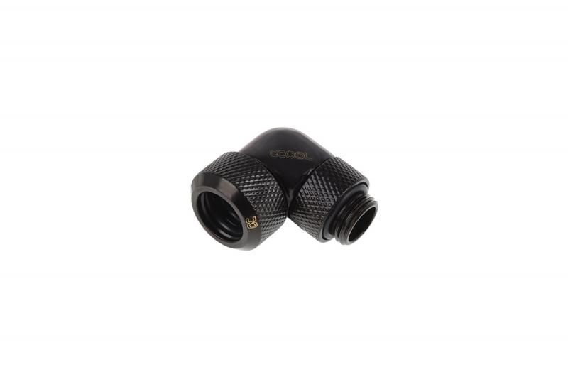Alphacool Eiszapfen 13mm HardTube 90° G1/4 - Deep Black