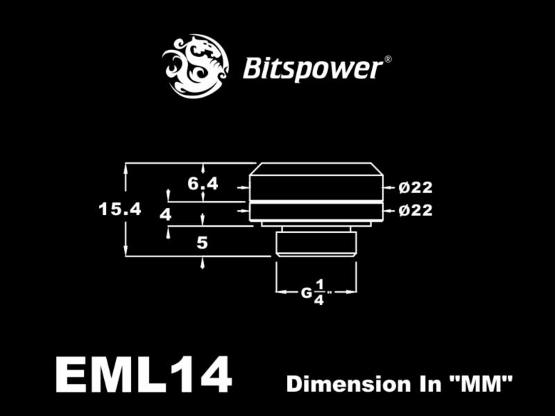 Bitspower Multi-Link Adapter G1/4 14mm AD - shiny silver /BP-EML14/