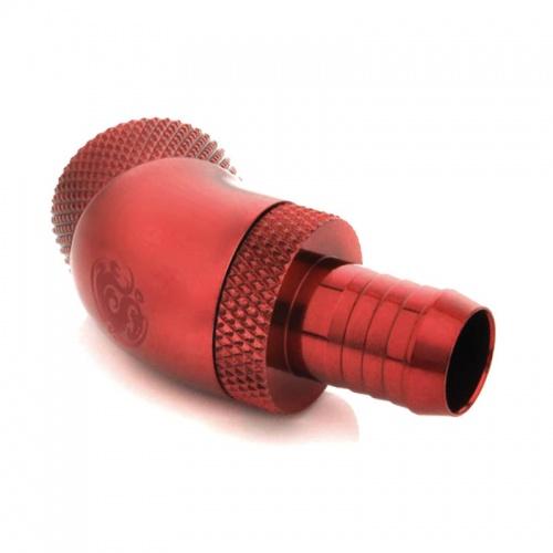 Bitspower Fitting 45° G1/4, 10mm - vérvörös, forgatható