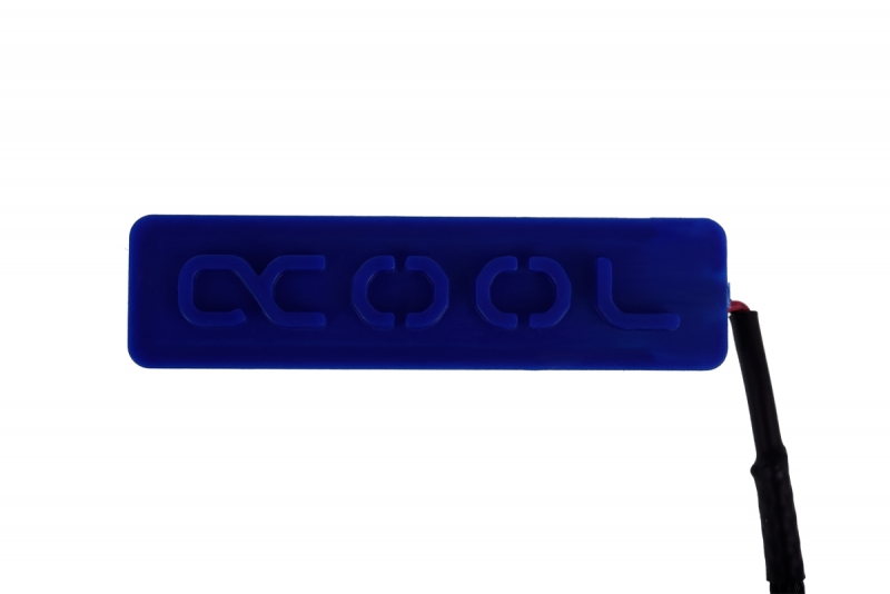 Alphacool Lightning LED Logo - Blue (white led)