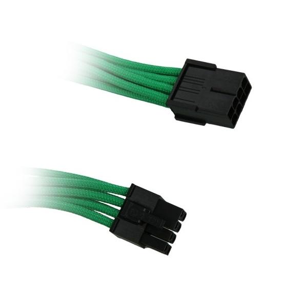 BitFenix 8-Pin PCIe hosszabbító 45cm  -  Zöld / Fekete