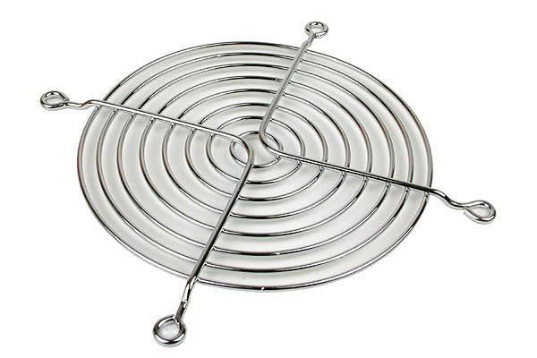 Ventilátorrács axiális ventilátorhoz 120 mm-es krómozott ventilátorhoz /80015/