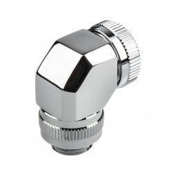 PHANTEKS Rotary  merev cső adapter 12mm G1/4 90 fokos - Króm /PH-RA90_CR12/