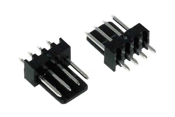 Phobya ventilátor tápcsatlakozó 4Pin PWM aljzat - 2 db Fekete /82352/