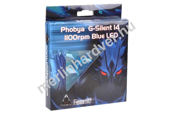 Phobya G-Silent 14 1100rpm Blue LED
