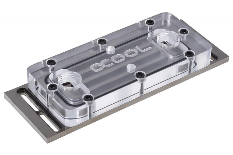 Alphacool D-RAM Cooler X4 Universal - Plexi Black Nickel