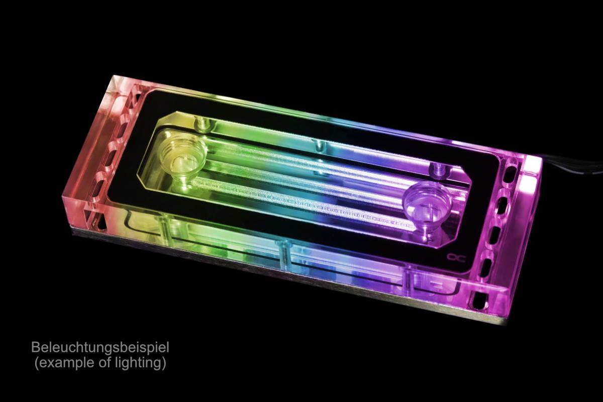 Alphacool Aurora Plexi X4 D-RAM blokk /17467/