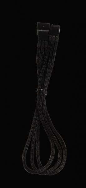 Bitfenix 3-Pin hosszabbító 30cm - fekete / fekete