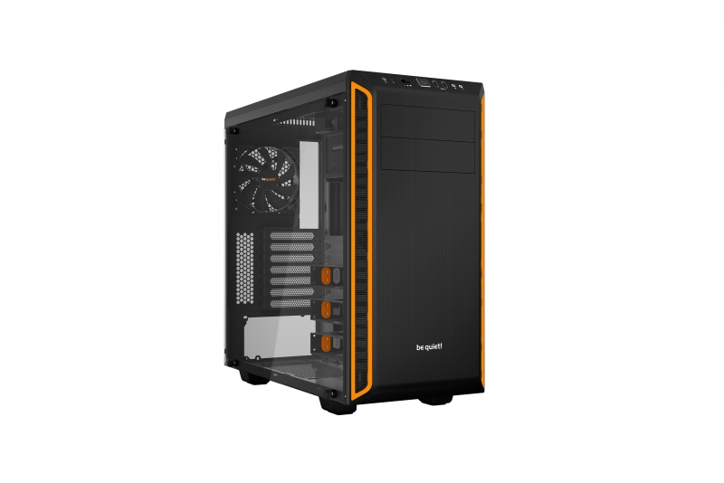 be quiet! PURE BASE 600 Window fekete/narancssárga (BGW20)