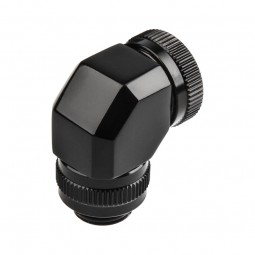 PHANTEKS Rotary merev cső adapter 12mm G1/4 90 fokos - fekete /PH-RA90_BK12/