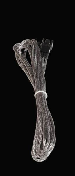 Bitfenix 3-Pin hosszabbító 60cm - ezüst / fekete