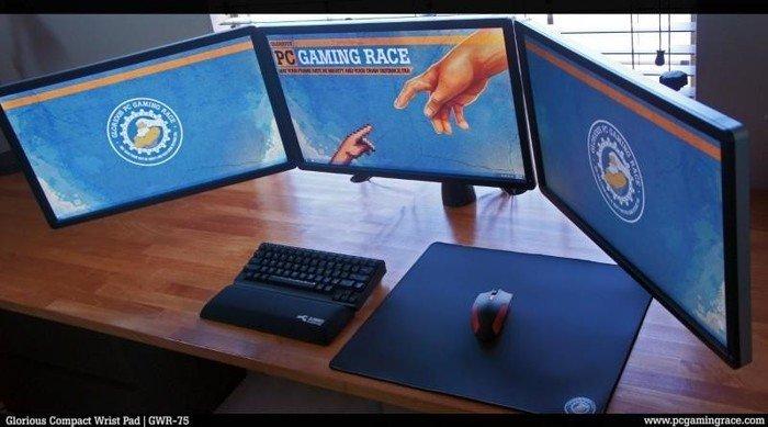 Glorious PC Gaming Race billentyűzet csuklótámasz - fekete