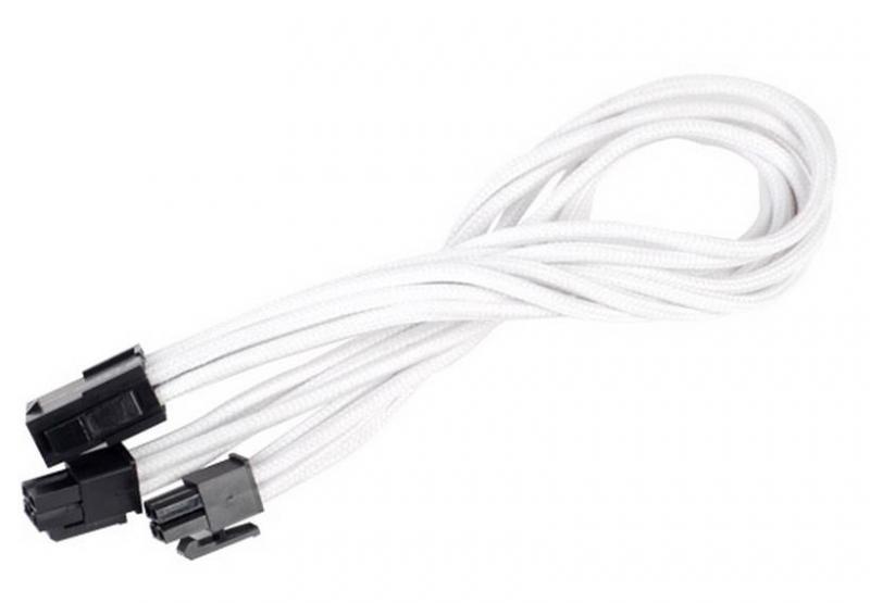 Silverstone 8-Pin EPS - 4+4-Pin ATX/EPS hosszabbító - 300mm fehér