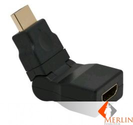 Delight HDMI/M to HDMI/F 180° forg/dönt. adapter