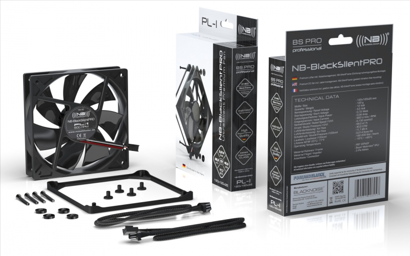 Noiseblocker BlackSilent Pro Fan PL1 - 120mm