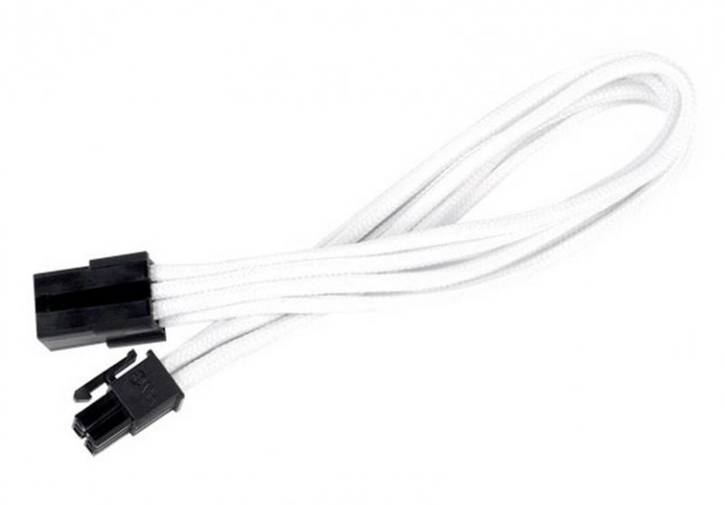 Silverstone 6-Pin PCIe - 6-Pin PCIe hosszabbító - 250mm fehér