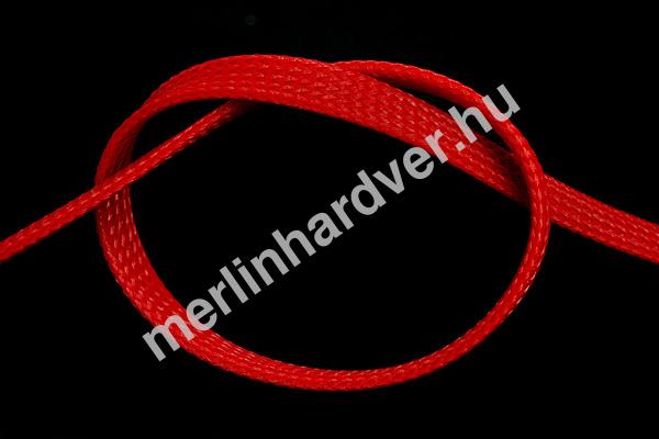 Phobya Flex Sleeve 10mm UV Piros - 1m